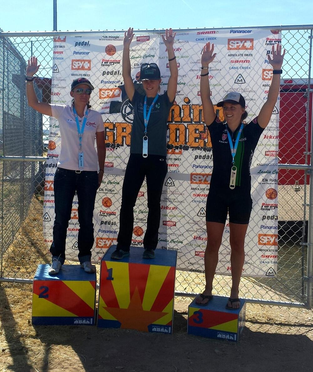 Caroline Mani, Me, Katie Ellis (Leadville 100 racer)