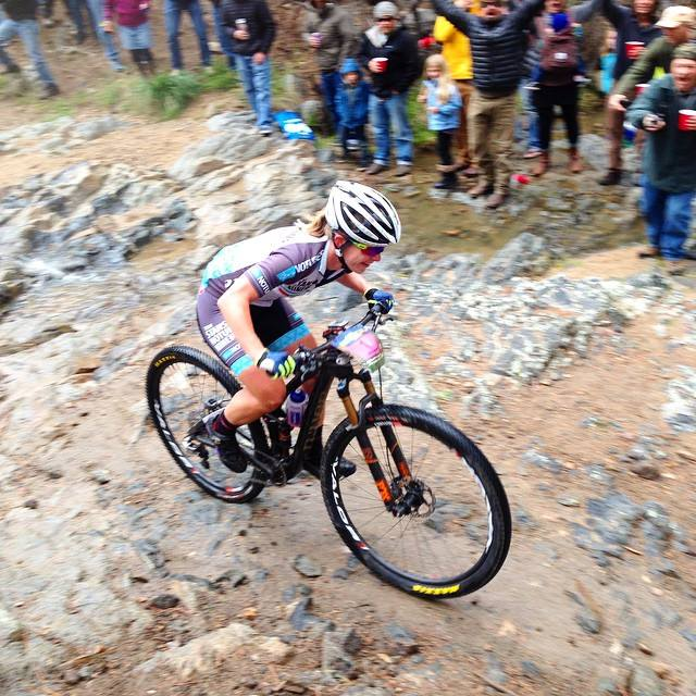 Soooo stoked by everyone cheering on Creekside Trail. Photo: Julie Cornelius