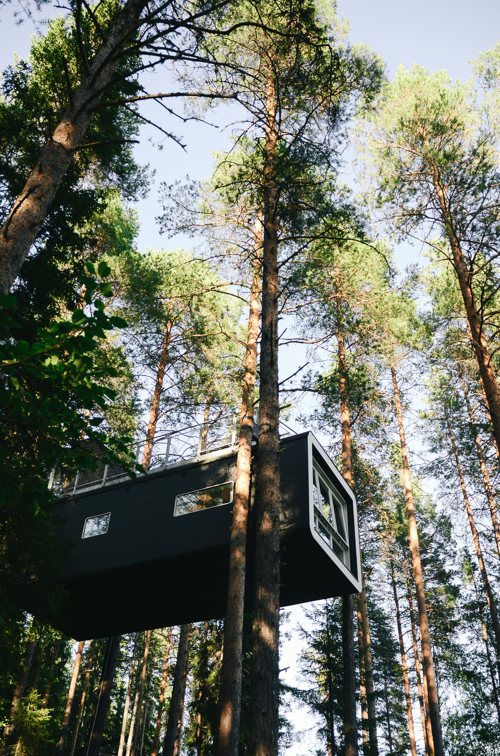 the cabin at the treehotel, northern sweden