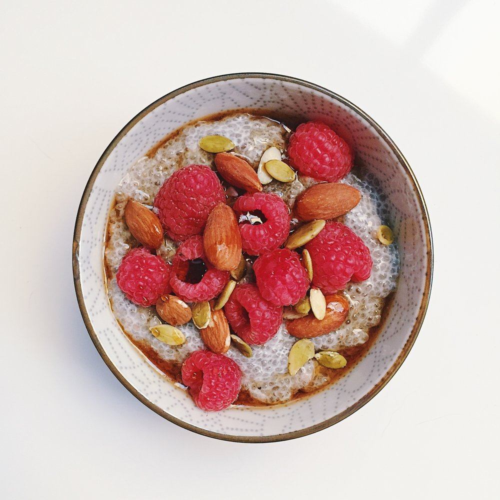 chia seed pudding -
