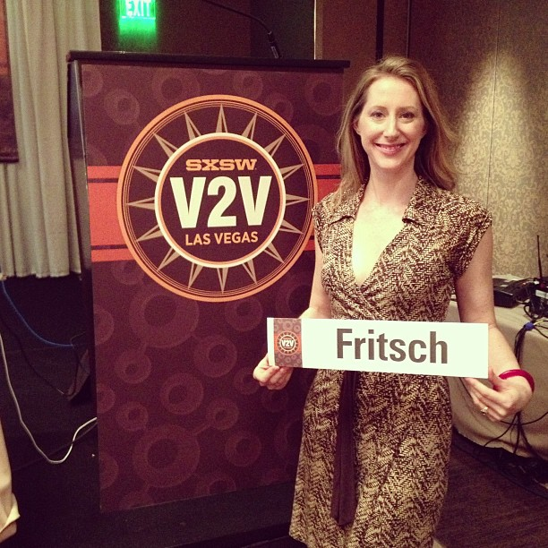 At the inaugural SXSW Vision2Venture Conference in Las Vegas, August 2014