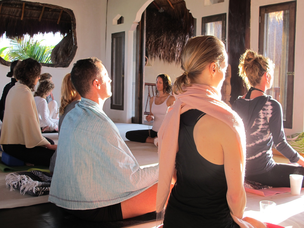 I often feel most lit up at yoga retreats, like this one in Tulum 2013.