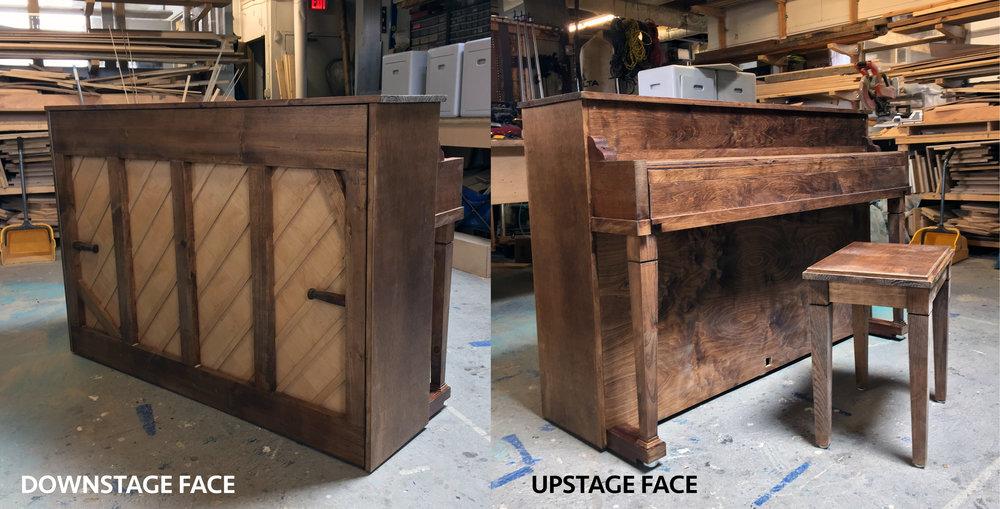 False Upright Piano Shell & Bench