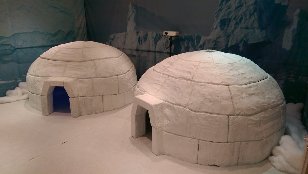 HAND CARVED FOAM IGLOOS