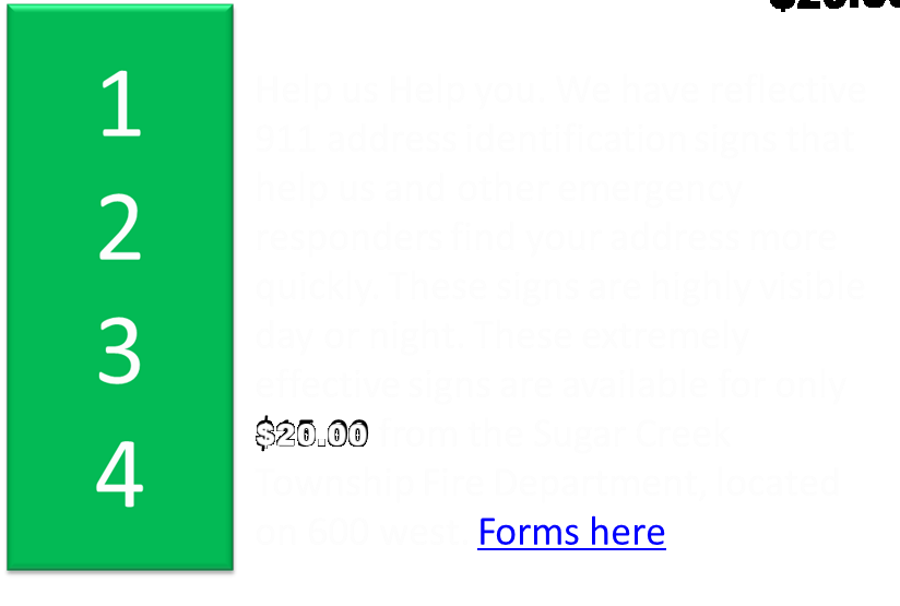 CLICK HERE FOR INFORMATION ON ADDRESS SIGNS