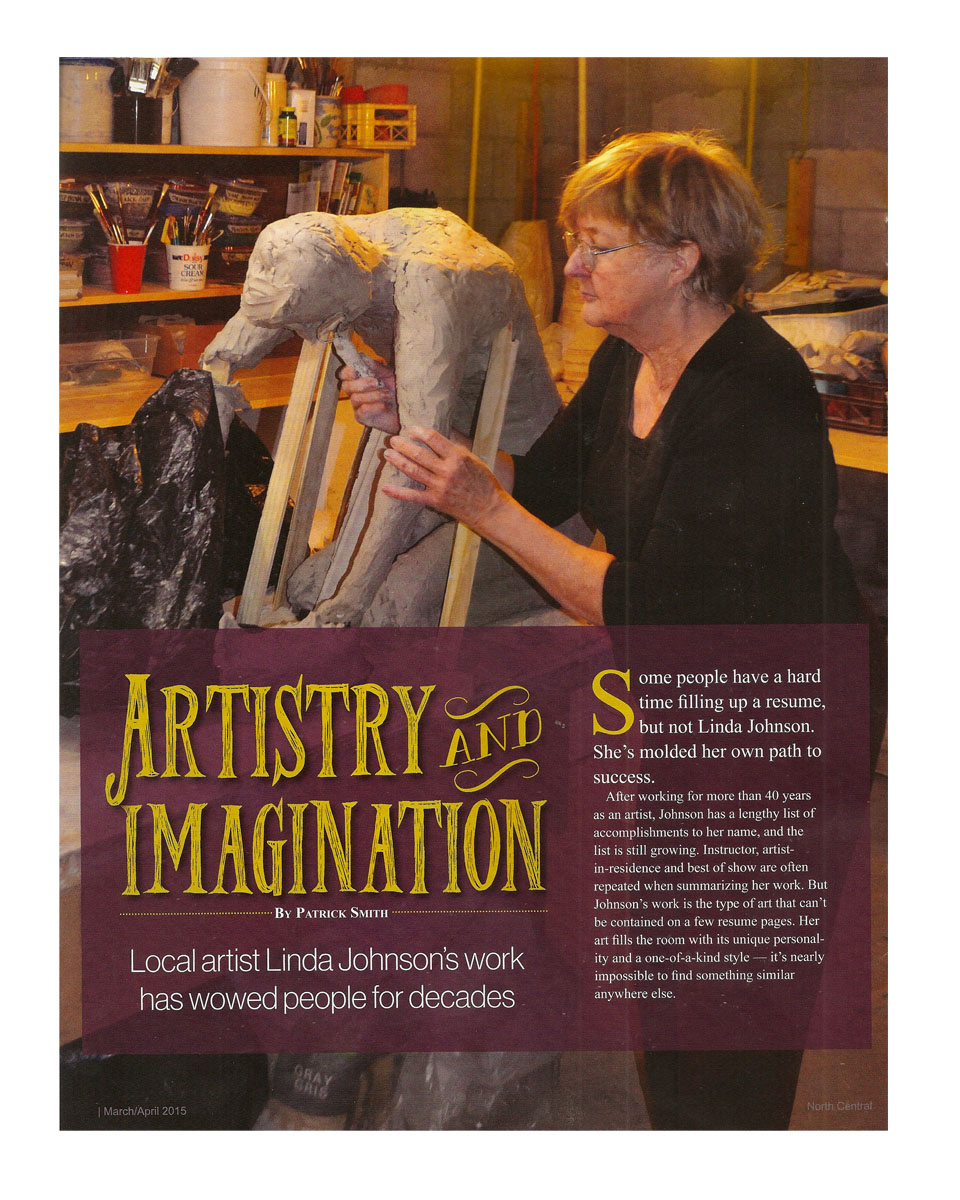Publicity — Linda Johnson Sculpture