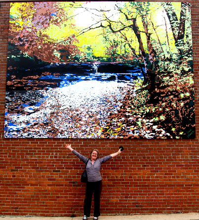 Union Camp Falls mural 12 ft. x 16 ft. on aluminum.