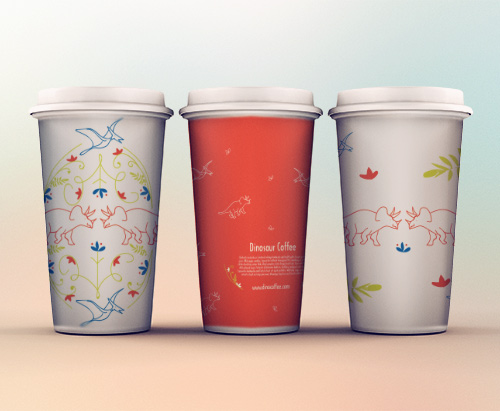 Paper Cup mock ups using Dino Floral Design