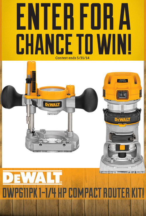 Contest Graphic - I designed the graphics for a giveaway contest on Facebook for Rockler Woodworking and Hardware. Using bright colors that matched DeWalt's branding helped it stand out and engage users.