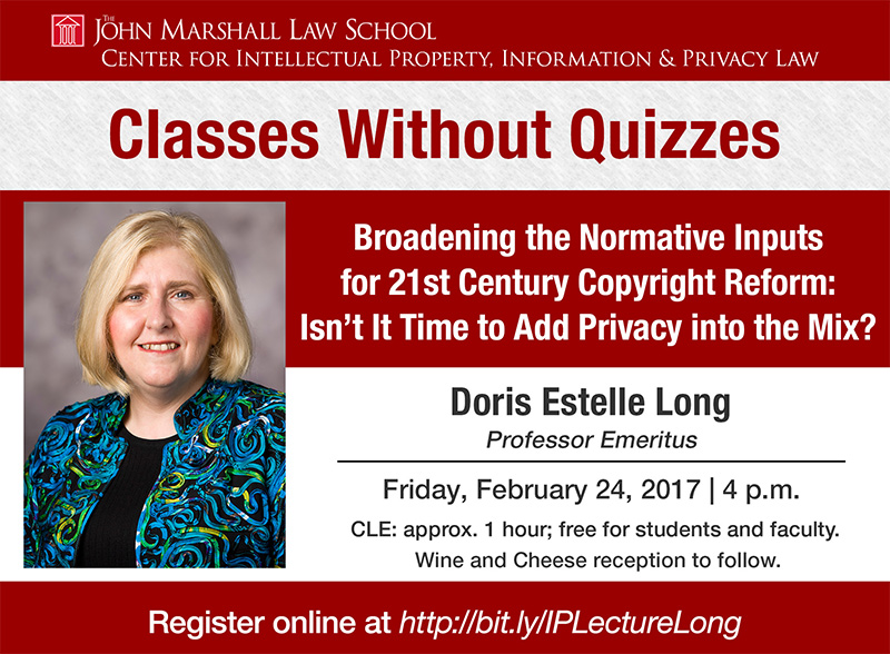 Digital Monitor - Designed a digital template to be used for digital monitor ads to be displayed throughout The John Marshall Law School to drive attendance at these events. Prominent speakers and clear date/time sections make events more visible.