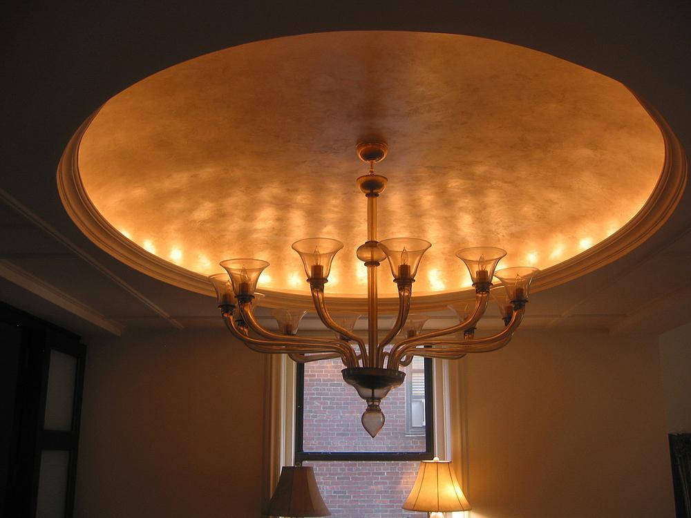 Pearlescent Venetian Plaster Ceiling