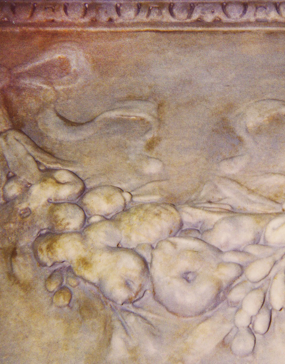 Faux Stone Glaze on Cast Plaster Cornucopia