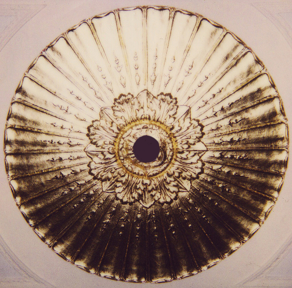 Gold Metal Leaf Ceiling Medallion