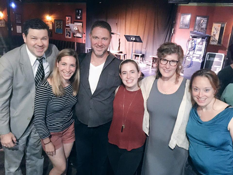 L to R: Solas Nua in Boston Artistic Director Jason McCool, SPINNING Director Stephanie LeBolt, cast members Steven Ó Broin, Margaret Clark, Melissa Healey, Angie Jepson.
