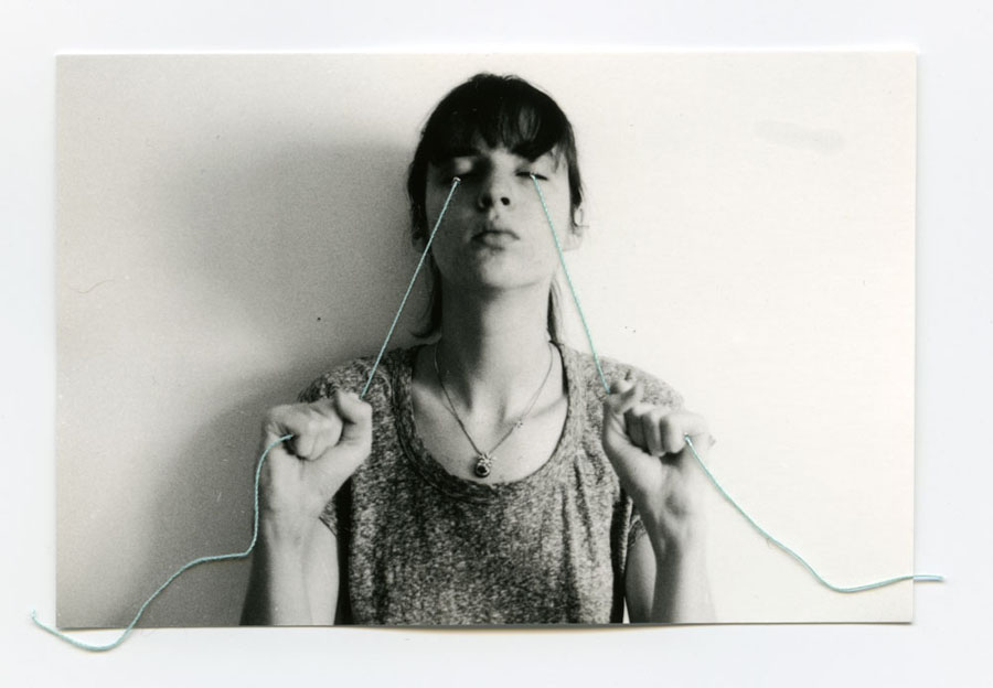 Trying    Silver Gelatin Print, Thread, 2014