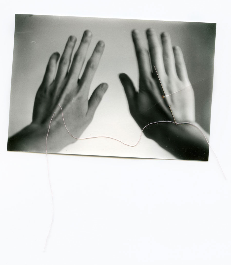 Denial    Silver Gelatin Print, Thread, Needle, 2014