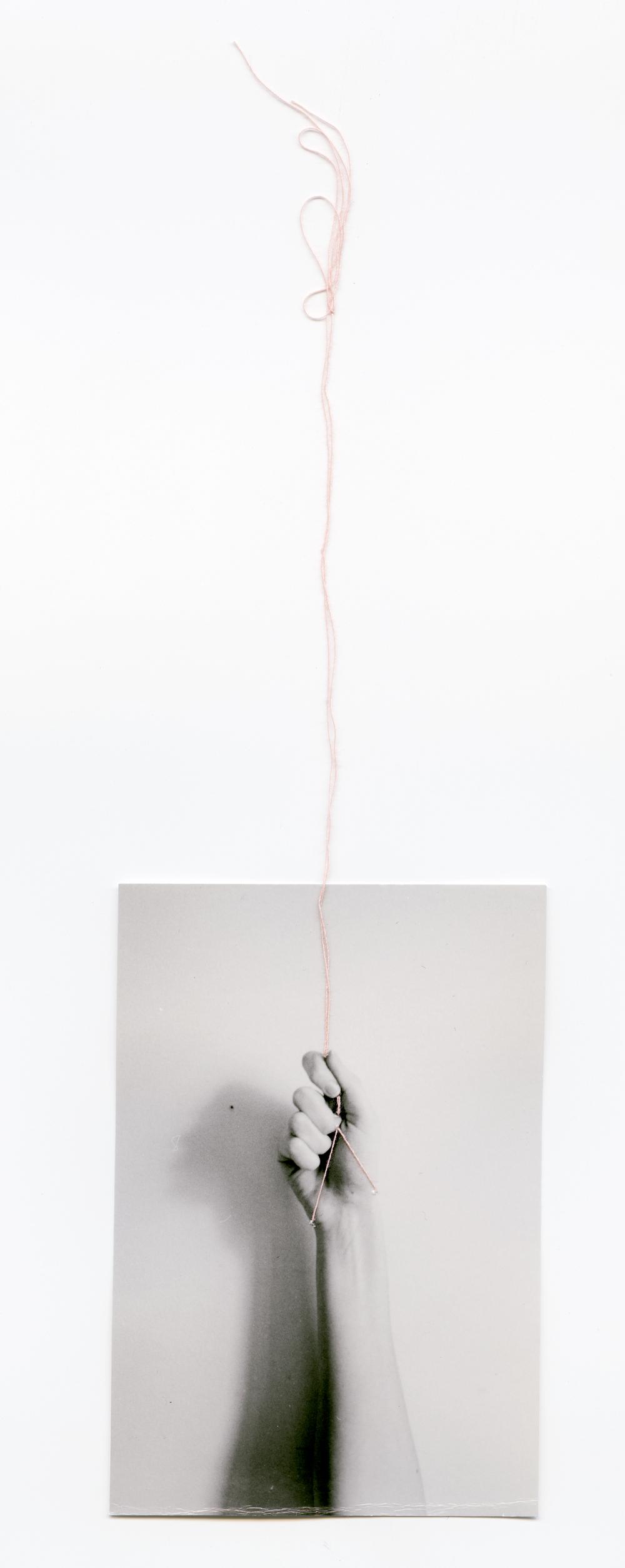 Grasp    Silver Gelatin Print, Thread, 2014