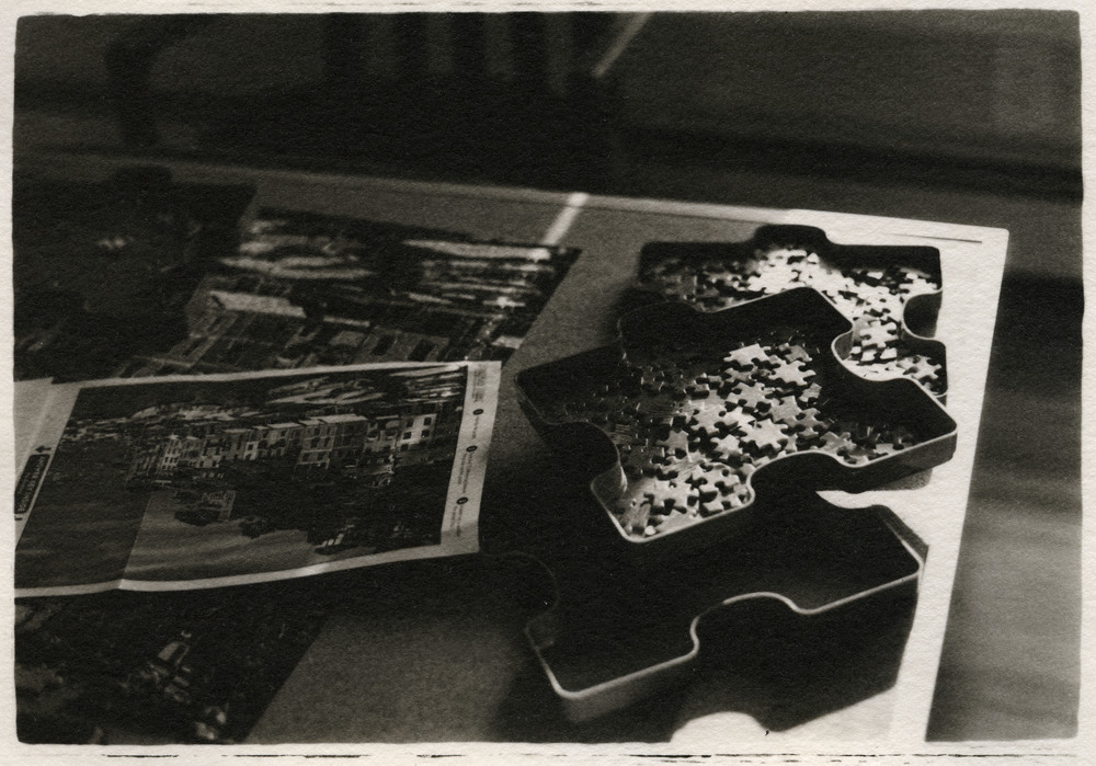 Mom's Puzzels     Silver Gelatin Print, New Jersey, 2015