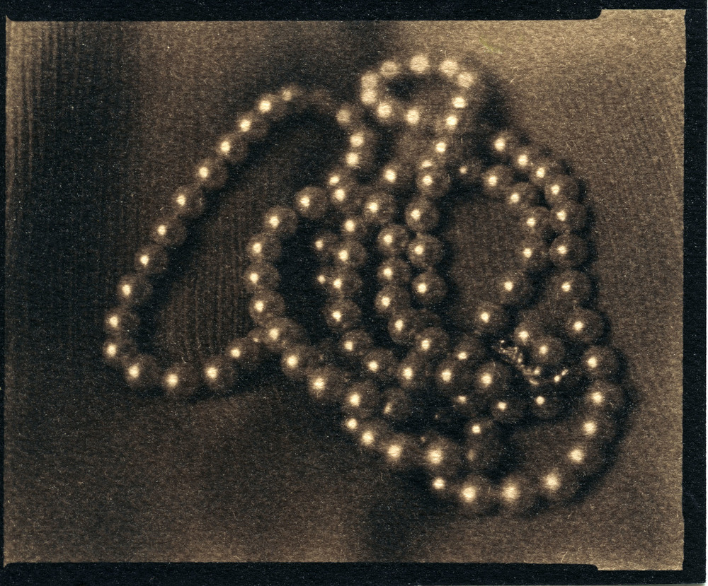 Anne's Pearls     Toned Cyanotype, 2015