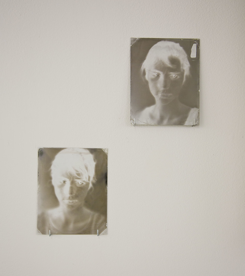 Self Portraits     Wet Plate Process on White Tin