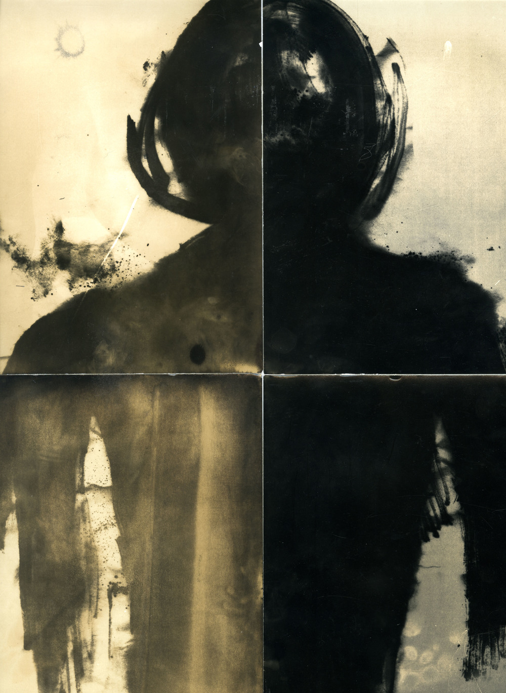 The Enemies    Contact Prints of Paintings on Silver Gelatin Paper