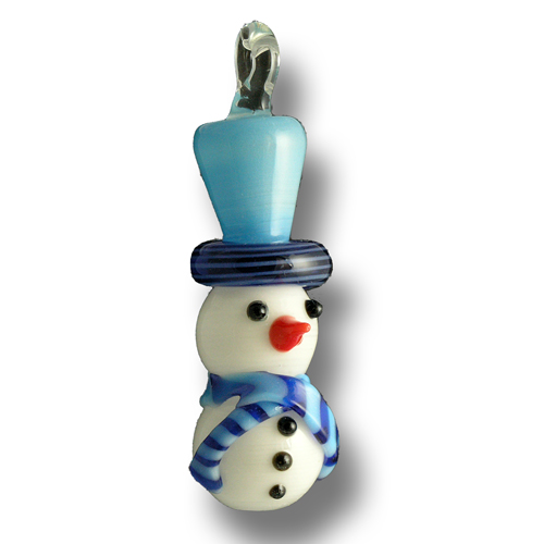 Flamework glass snowmen hanging ornament