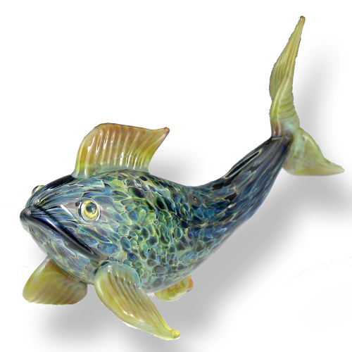 sculpted glass fish