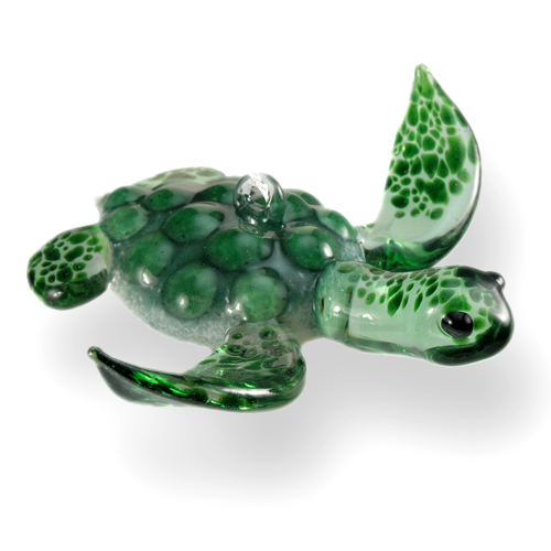 Flamework glass sea turtles hanging ornaments
