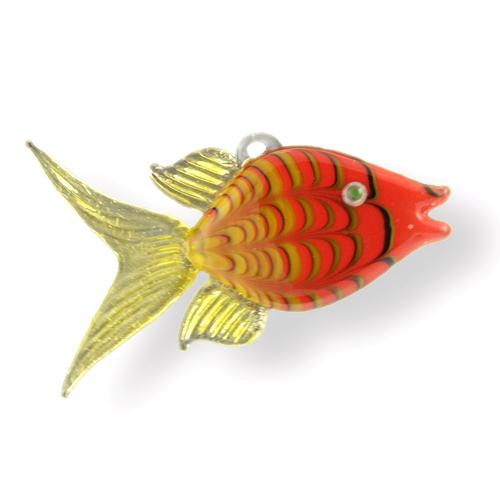Lampwork Glass Angel Fish hanging ornament