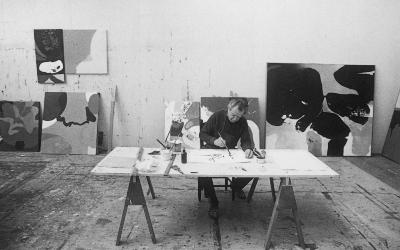 Brooks in his Springs Studio