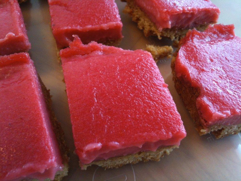 Cranberry curd bars