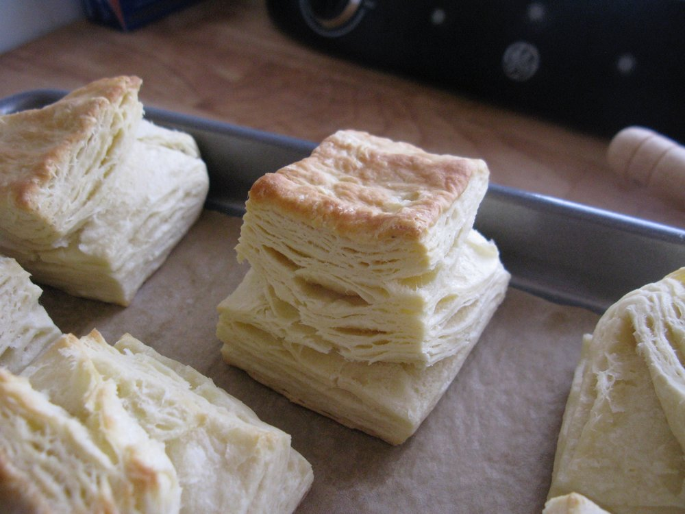 Extra-flaky biscuits