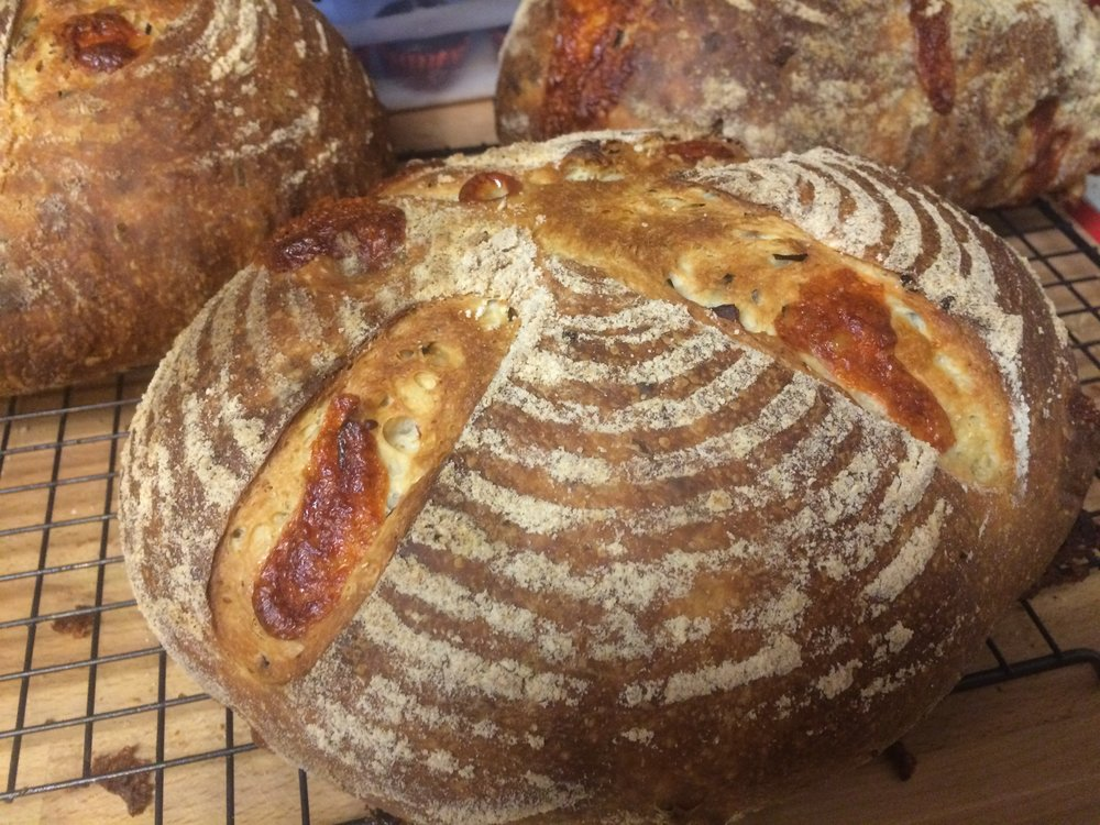Cheddar sourdough bread