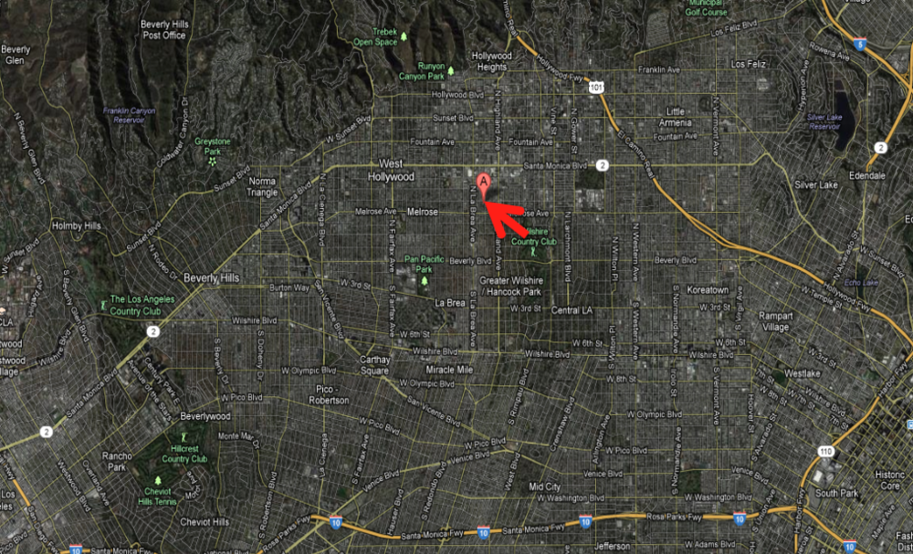 orange drive aerial map