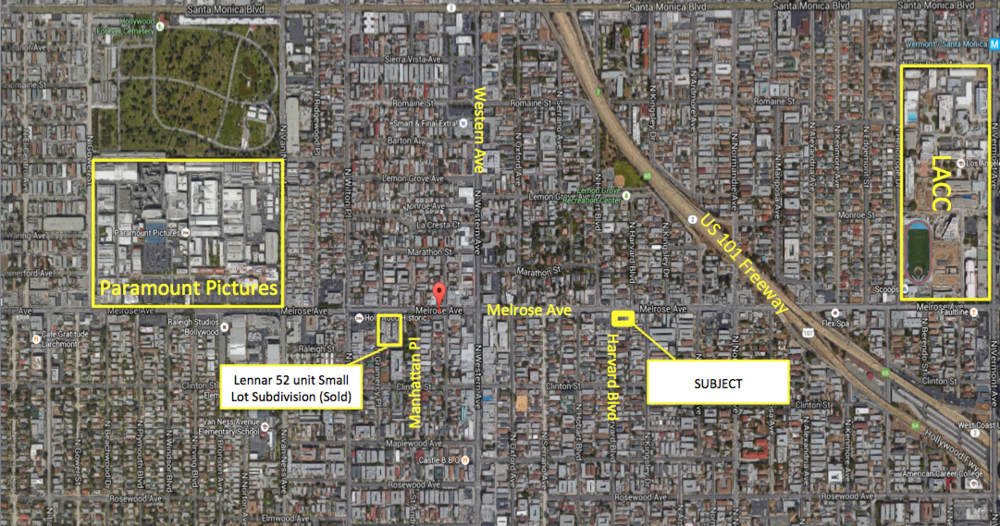 melrose ave map Mixed use developments los angeles