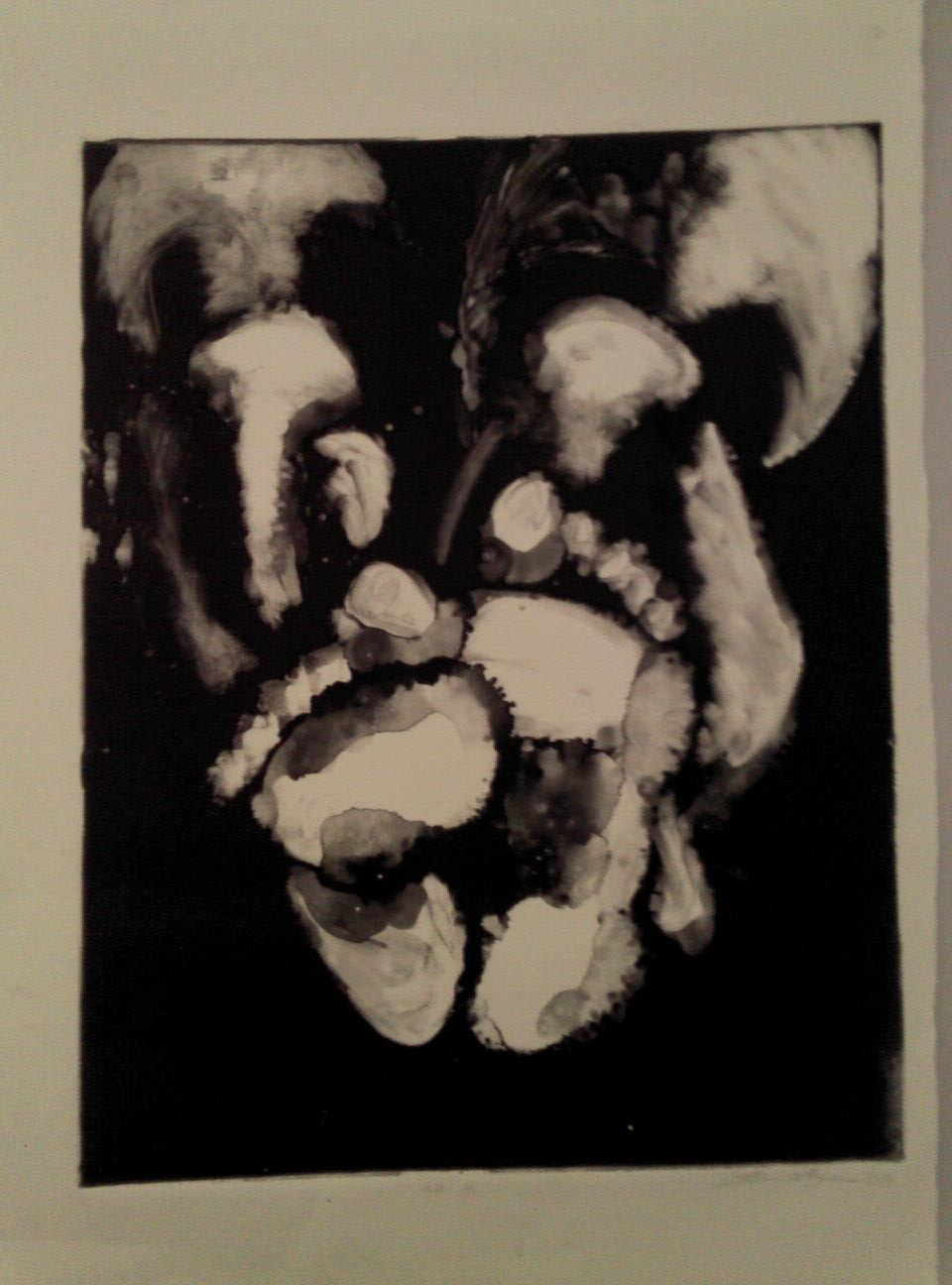 """mono print. 18""""x24"""", 2011."""