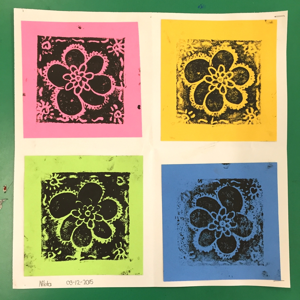 printmaking- Inspired by Andy Warhol