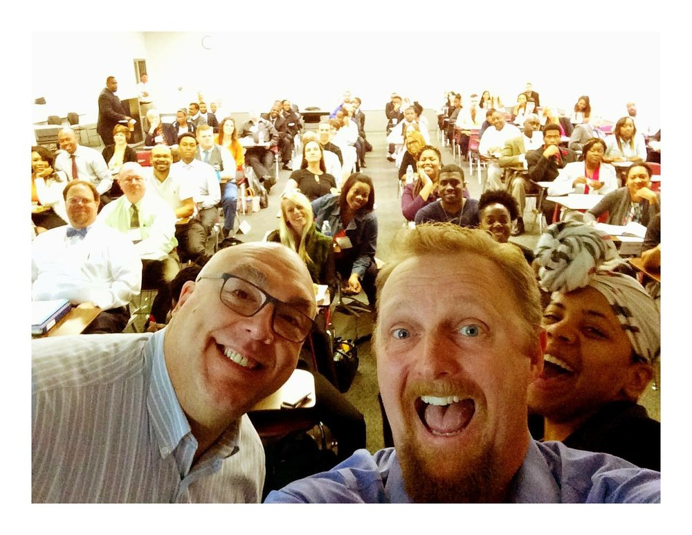 teaching a Cremation Certification class and taking a selfie with poul lemasters