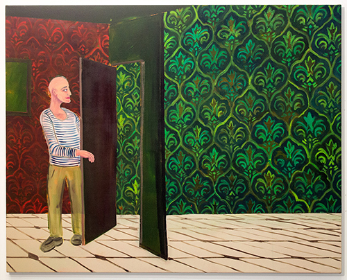 Guy Ben-Ari, Opening a Door, 2015, oil on canvas, 44 x 55 inches
