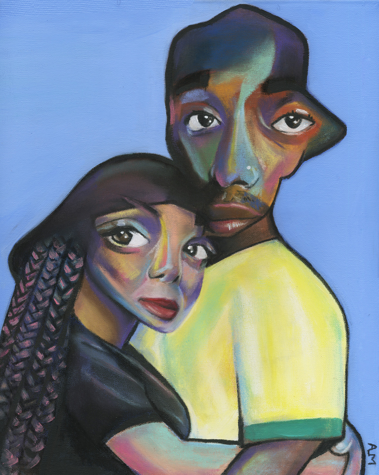 """Painting by Yesterday Nite,  """"In Living Color: My Black History""""  series"""