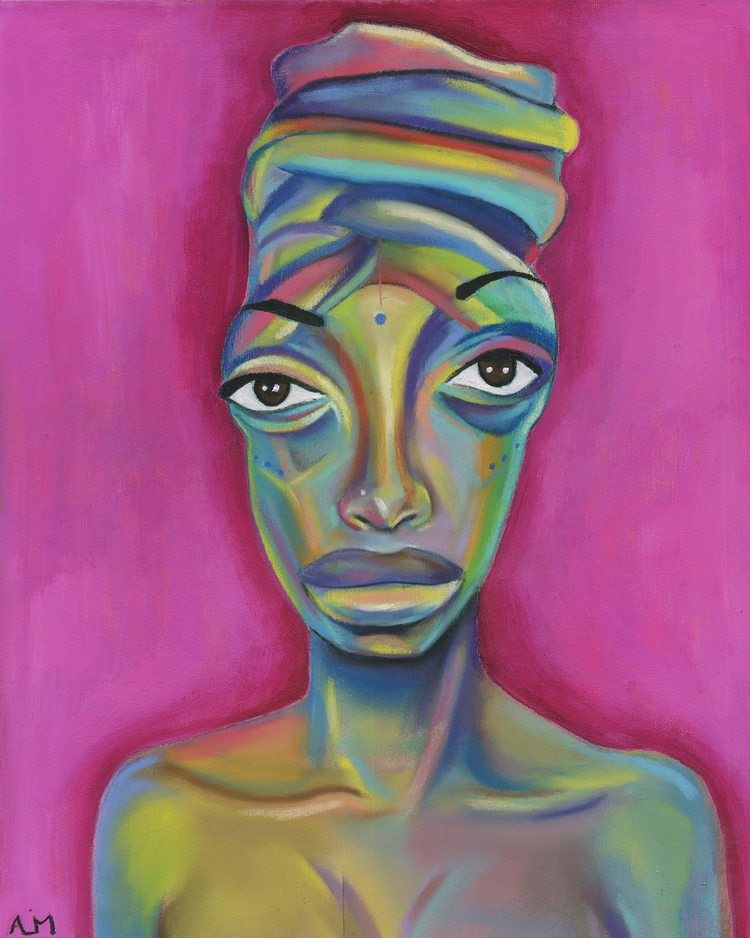 """Painting by Yesterday Nite, """"In Living Color: My Black History    series"""
