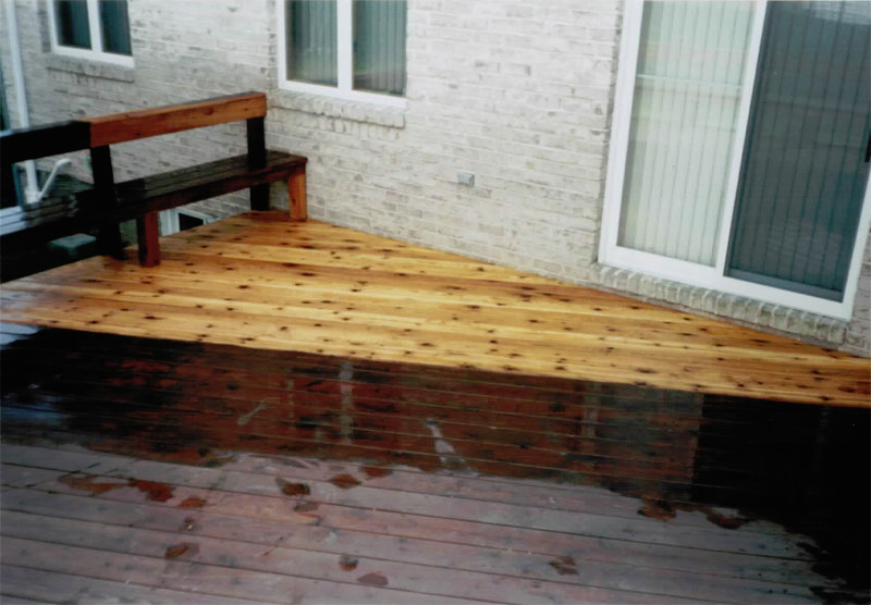 Restore the original beauty of your deck.  Wood, composite, Trek deck, we do it all!
