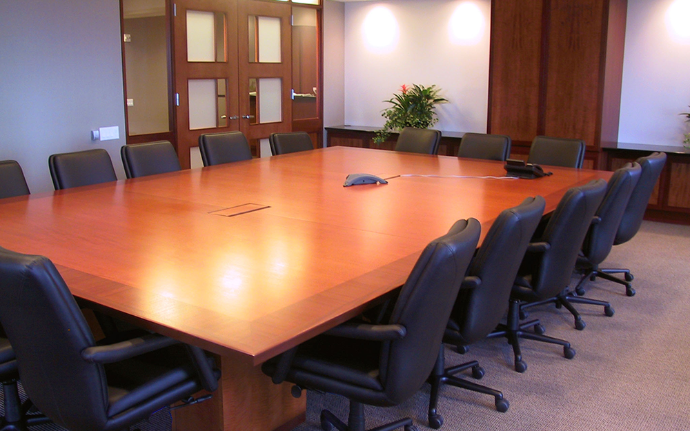 Conference Rooms Acacia - T shaped conference table