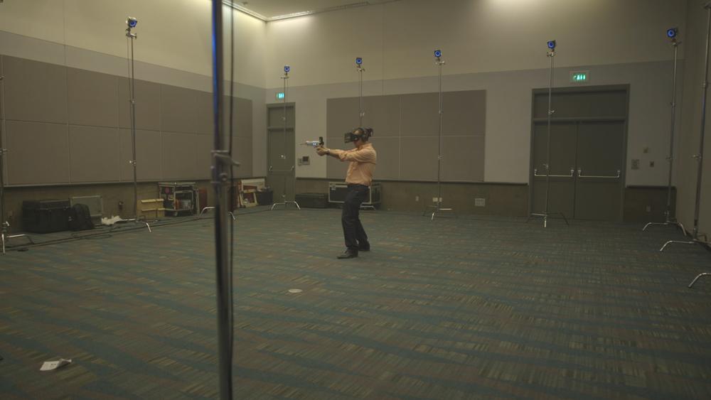WALK AROUND IN A VR ARCADE