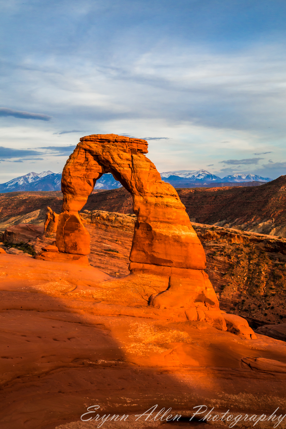 Delicate Arch just before sunset