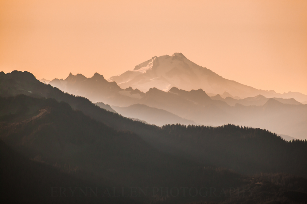 Glacier Peak in the morning