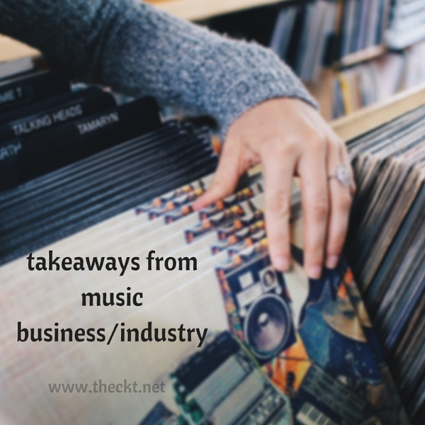 takeaways lessons music business industry the cocoknot theori