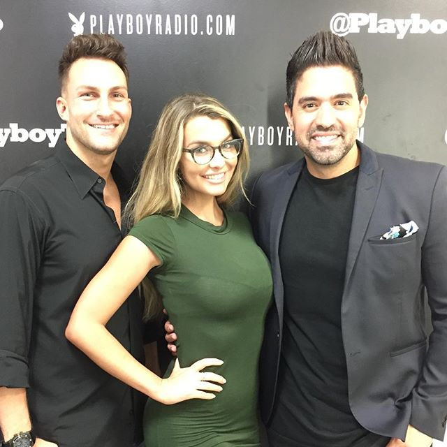 @emilysears in the studio dropping knowledge bombs, you'd think she was @tailopez waaaa!?!? #playboyradio #playboy