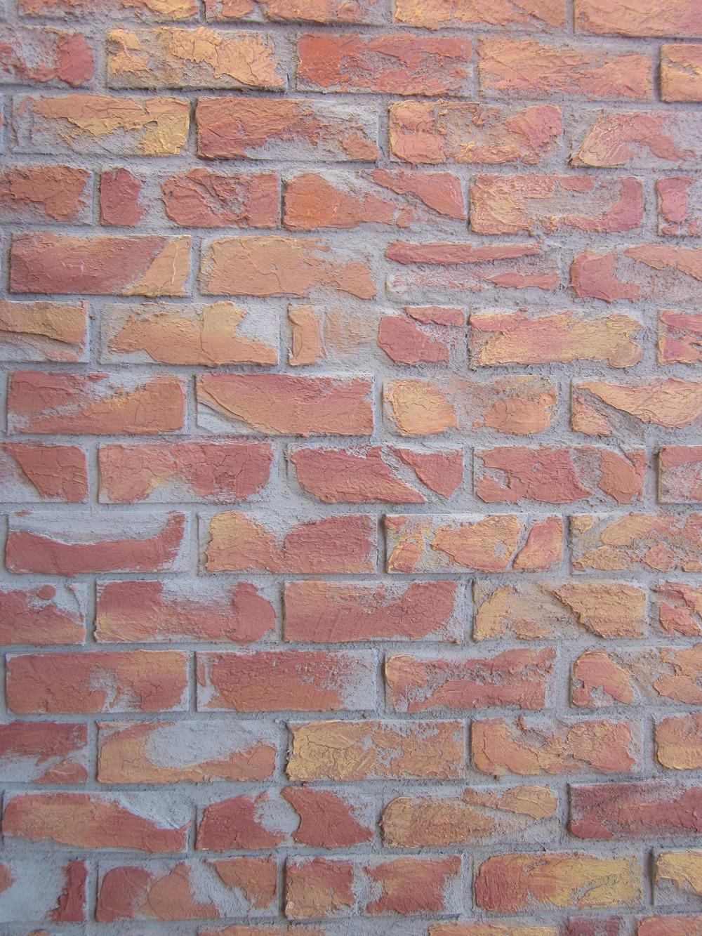 Brick Homasote with Jaxsan and Paint