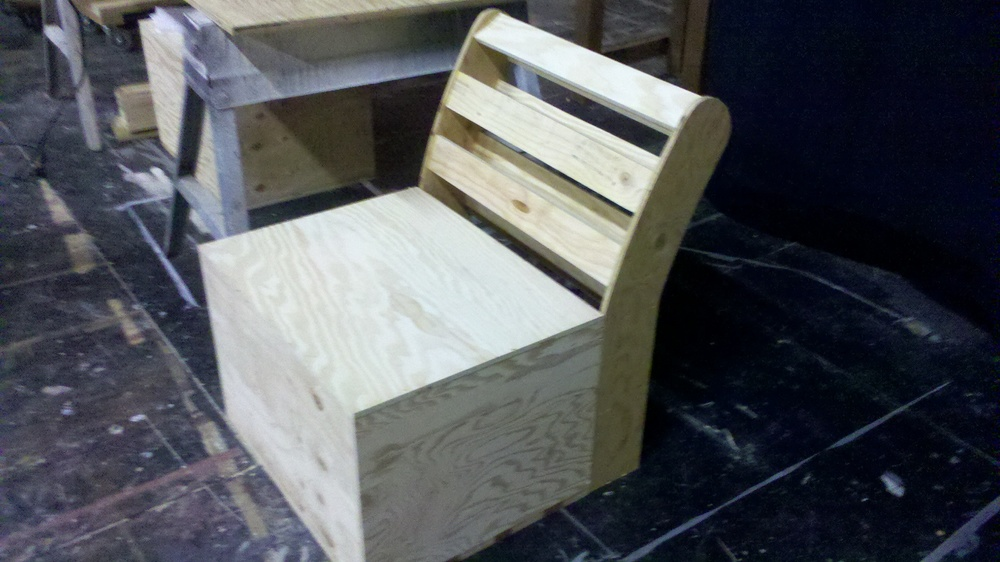 Chair seat and backing